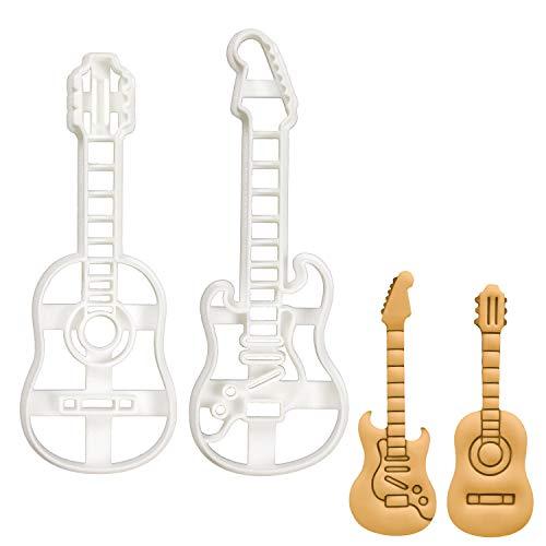 Bakerlogy 2er Set Gitarre Ausstechformen (Formen: Akustik- und E-Gitarre), 2 Teile