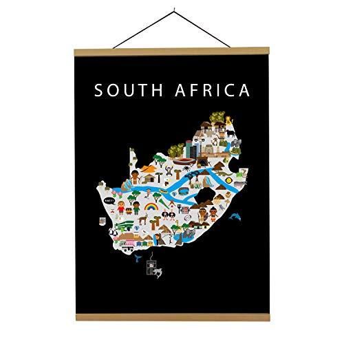 Póster de Mapa del sur de África | B2 | 50 x 70 cm | Mapas Maison