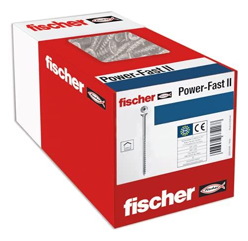 fischer 670164 caja de tornillos para madera rosca parcial 4x30, cincado