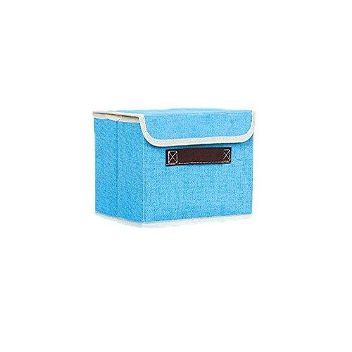 Da. WA Toile carrée Boîtes de Rangement Simplement Panier à Linge Pliable bacs Housses de Rangement Organiseur à Nourriture pour vêtements/Enfants Jouets Home Accessories (s)