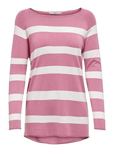 ONLY Female Strickpullover Gestreifter Sheather Rose