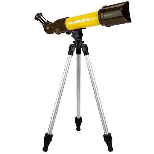 JKUNYU Abacus Toy HD Refractómetro astronómico telescopio de escritorio con trípode para principiantes, vista del cielo para ver juguetes educativos (color: rojo) (color: amarillo)