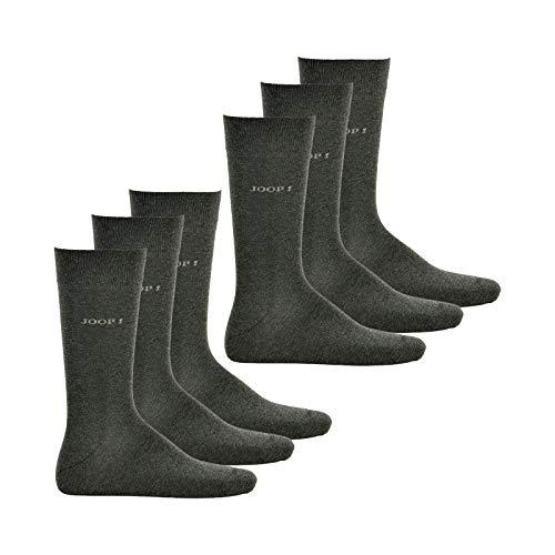 Joop! Herren Socken 6 PAAR - Strümpfe, Kurzsocken, Anzugsocken, Business (2x 3-Pack) (Grau (2100M), 39-42 (6 Paar))