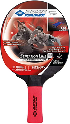 Donic-Schildkröt Sensation Line 600 724402 - Raqueta de ping pong (mango ASG, esponja de 1,6 mm, revestimiento ITTF)