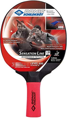 Donic Sensation Line 600 Wooden Table Tennis Bat ( Red / Black, 80 grams, All-rounder )