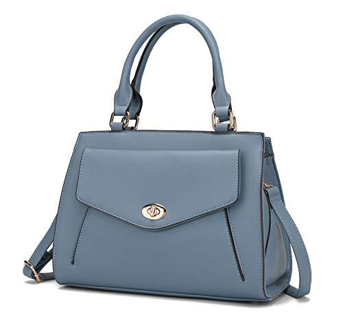Mia K.Collection Crossbody Bag for Women Purses and Handbags, Top-Handle KatieWomen Satchel Tote, Purse For Women Denim