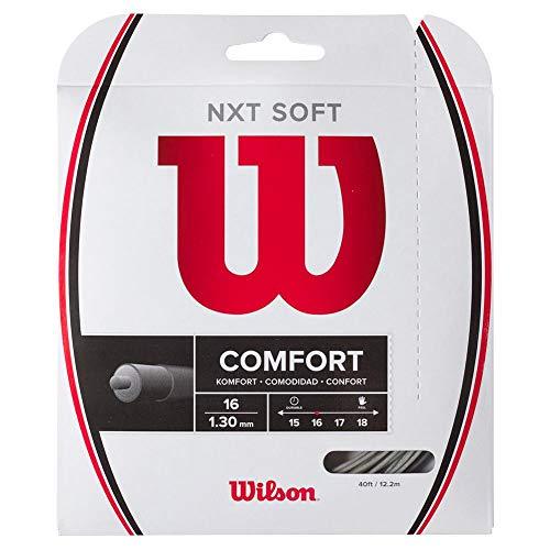 Wilson NXT Soft 16 - Cuerda de tenis, color plateado