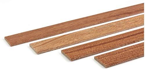 wodewa Holzleiste Wandleiste Mahagoni Geölt 1m Abschlussleiste Holz 30x4mm Zierleiste für Wandverkleidung Decke Boden Abdeckleiste DIY Basteln