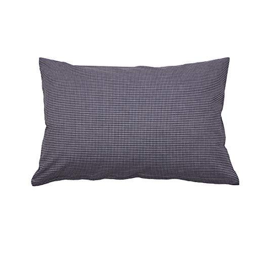 Hans-Textil-Shop Vichy Check Cushion Cover 2 x 2 mm - Checked Sofa Cushion, Decorative Cushion, Seat Cushion, Decorative Cushion (30 cm x 30 cm, Navy)