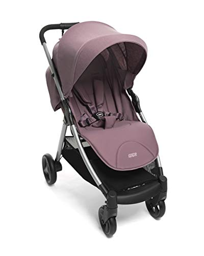Mamas & Papas Armadillo Compact Pushchair with Lightweight Frame, One Hand Fold, Adjustable Seat, Lie Flat Position & Large UPF 50+ Protective Hood – Grape Mamas & Papas COMPACT FOLD - A compact fold that fits in the boot of a Mini, collapsing with one hand ALL IN ONE BUGGY - With no compromise on room our biggest lie-flat seat offers loads of stretching room LARGE UPF 50+ HOOD - A large UPF 50+ hood protects against rays and rainy days with a magnetic window to check on baby 1