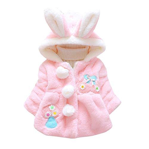 Gyratedream Peuter Baby Meisje Leeftijd 3-42M Jas Herfst Hoodie Oor Ontwerp Sweatshirt 24-42M roze
