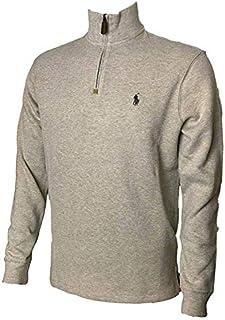 Polo Ralph Lauren Mens Half Zip French Rib Cotton Sweater...