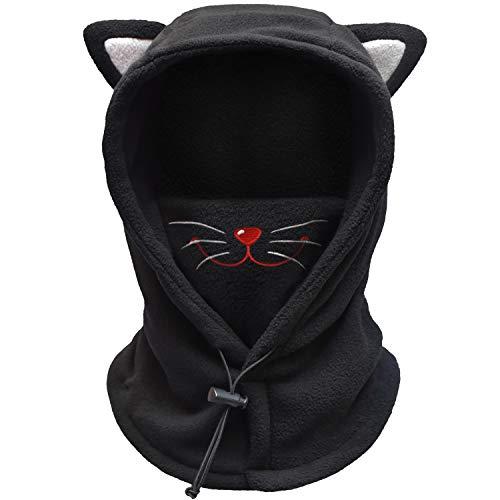FCY Kids Balaclava,Boys/Girls Winter Hat,Fleece Ski Mask,Windproof Face Mask/Cat