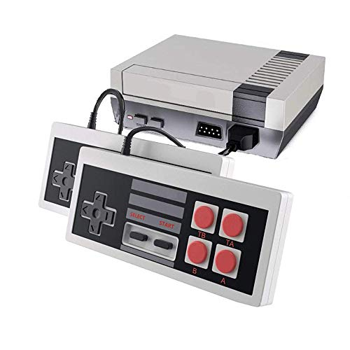 Classic Mini NES Console, AV Output Retro Video Game Built-in 500 Games with 2 Classic Controllers
