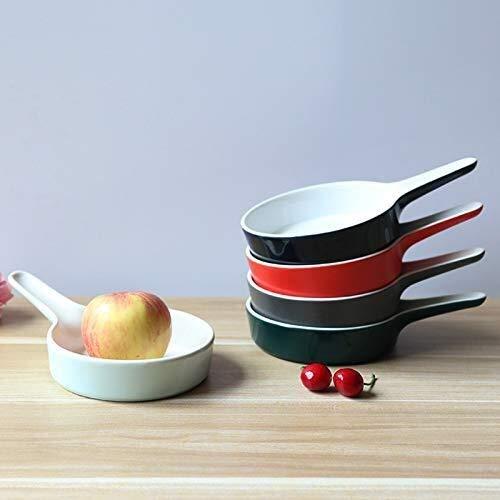 Keramikschale im japanischen Stil, Einzelohr-Keramikschale, Kuchenform, Backform, Makkaroni, Pizza-Pfanne (Farbe: Dunkelblau, Größe: 21,5 x 14,5 x 3,8 cm)