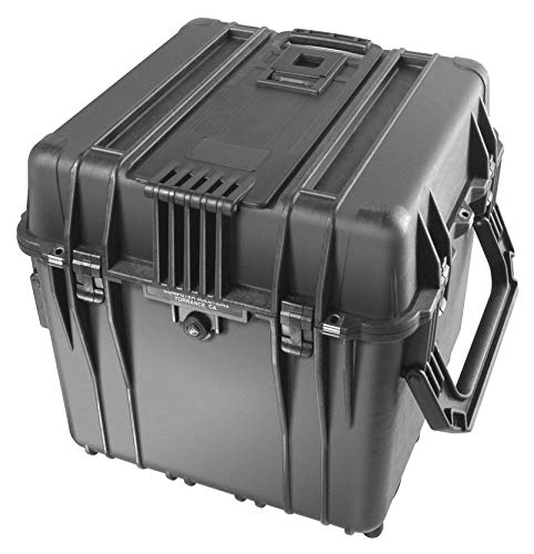 PELI 0340 Protective Cube Case with Handles ideal to Transport Deep Shaped Equipment,  IP67 Watertight, 151L Capacity, Made in US, No Foam, Black
