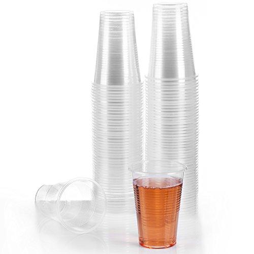GOODS+GADGETS 100 Trinkbecher 0,3 L Ausschank-Becher transparente Einwegbecher Plastikbecher 300ml