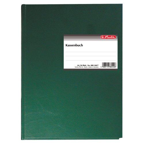 Preisvergleich Produktbild Herlitz 882407 Kassenbuch A4 96 Blatt gebunden und doppelseitig bedruckt