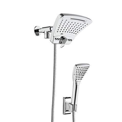 PULSE Showerspas 1056-CH PowerShot System, with 8' Rain Showerhead and 3-Function Hand Shower, Polished Chrome Finish showerspa
