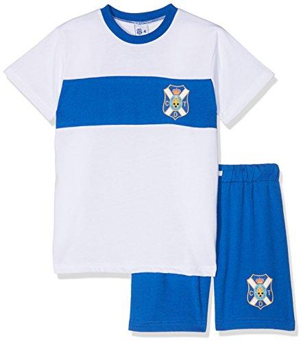 CD Tenerife Pijten Pijama Corta, Infantil, Multicolor (Blanco/Azul), XL