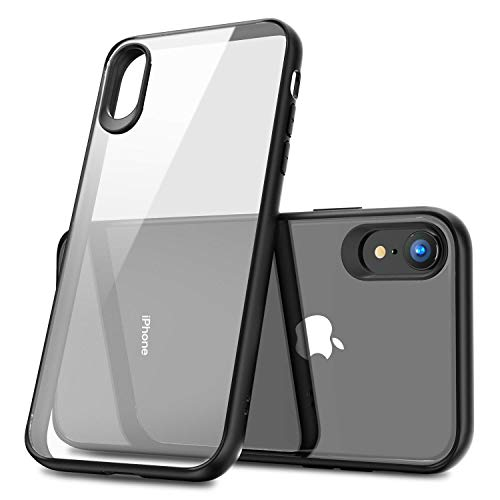 Tech-MD iPhone X iPhone XS Clear thin bumper case Hybrid Soft Grip Matte Finish Clear Back Panel Ultra-Thin [Slim Fit] Cover for iPhone XS and iPhone X