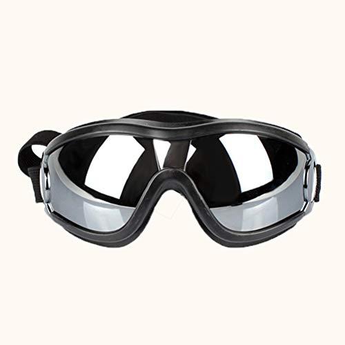 LXYDD Los Mascotas Doggles UV de protección a Prueba de Viento Gafas de Sol Gafas de protección Gafas con Correa Ajustable,1