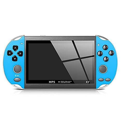 XUANWEI Console de videogame portátil X7 8GB PSP Video Gameconsole Player integrado Consola de videogame portátil Console de videogame com joystick duplo portátil