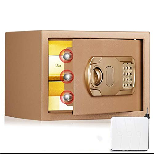 ZHEDYI 25cm Veilig Klein Huishouden, Kan In De Muur En Sluiting Alle Staal Anti-diefstal Vuurvaste Kluis, Office Wachtwoord Sleutel Veilig, Intelligent Dual Alarm Device