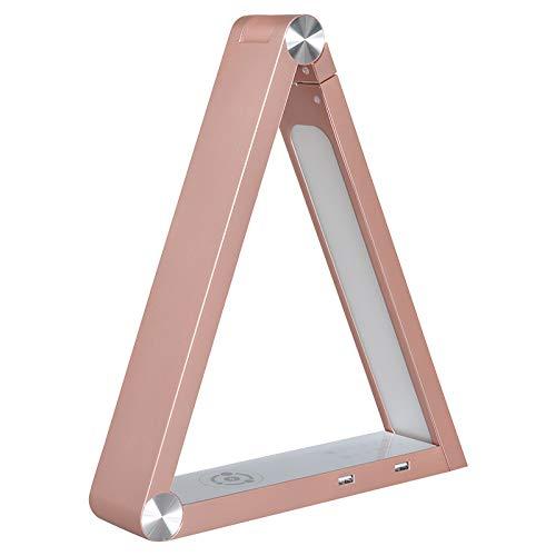 Lampe de table LED. sparsamer verbauch, 6 W. Dimm Bar & teinte réglable. A + Rose Gold