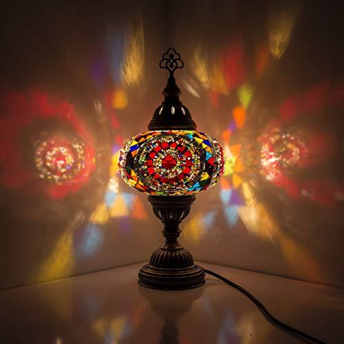 Lámpara turca (20 variaciones) – Lámpara de mesa de mosaico hecha a mano – Lámpara decorativa marroquí – Lámparas rústicas frescas – Lámpara de cristal manchado (12)