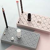 2LL4HM2LL4HM Organizador de pintalabios de silicona con 18 espacios de almacenamiento para pincel, pintalabios y cejas, Rosado, 300.00[set de ]