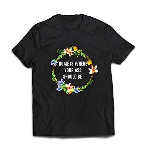 lepni.me Mannen T-shirt Self Quarantine Home is Your Ass Should Be Stay at Home