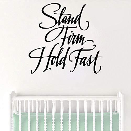 Wörter Kunst Aufkleber Wasserdichte Wandaufkleber für Baby Kinderzimmer Dekor Aufkleber Kaffee XL 57cm x 59cm