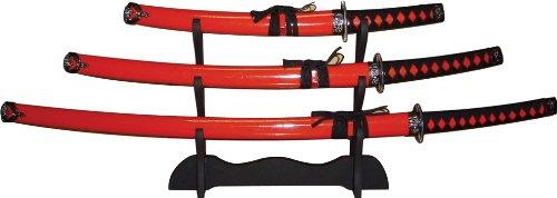 BladesUSA SW-68R4 3-Piece Katana Samurai Sword Set 40-Inch Overall