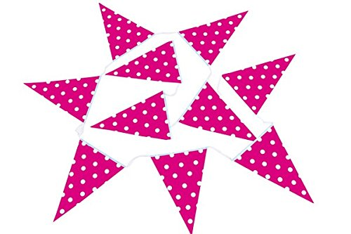 DISOK - Baby Shower Pink Bunting - Cheap Decorative Garlands for Party, Wedding, Event Decoration