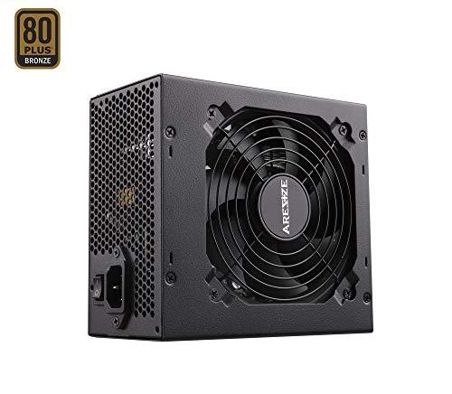 GOLDEN FIELD ARESZE Alimentation PC 450 Watt, Semi Modulaire, Certifiée 80+ Bronze, Active PFC, unité d'alimentation d'énergie avec Ventilateur Silencieux