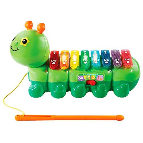 VTech Baby – FA LA Chenille percusionista, Xylophone Tirer Enfant, enseña Musique et Instruments, par l'oreille, la mémoire et la créativité (3480 – 174922)