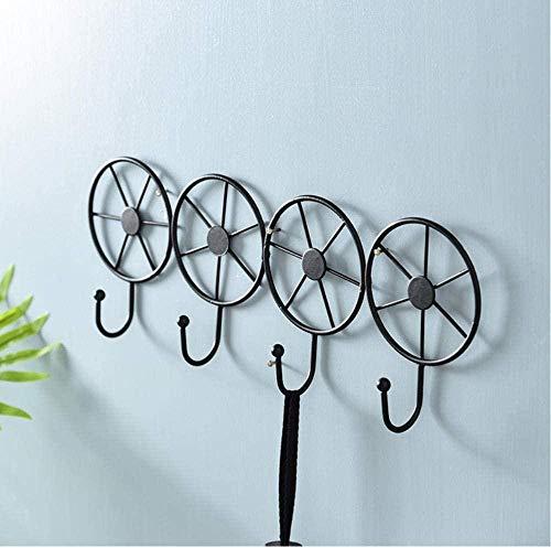 5 uds, gancho circular de hierro forjado, nuevo estante de pared decorativo montado en la pared, colgador de artículos diversos, caja de almacenamiento, marco de llave, gancho de fila