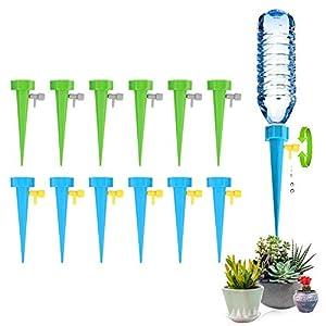 WLN 12 Piezas Sistema de Riego Automático Kit,Riego por Goteo Automático para Plantas,Ideal Dispositivo de Irrigación Automático en Vacaciones, Herramientas de Jardinería para Plantas