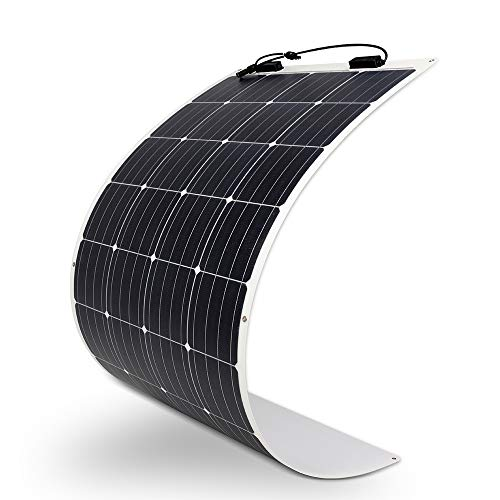 Renogy 160 Watt 12 Volt Extremely Flexible Monocrystalline Solar Panel - Ultra Lightweight, Ultra Thin, Up to 248 Degree Arc, for RV, Boats, Roofs, Uneven Surfaces