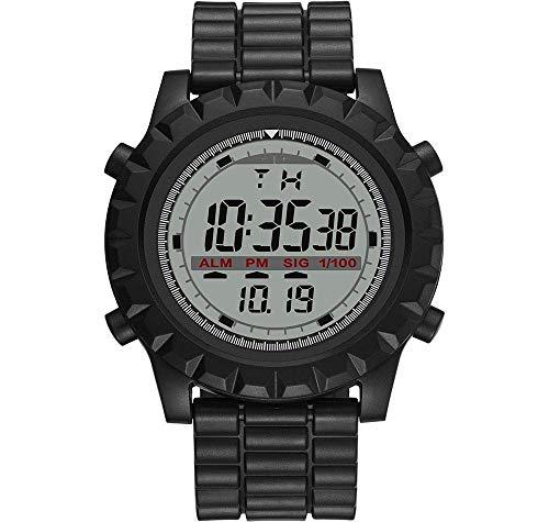 MNBVC Reloj Digital para Hombres, Simple, de Moda, a Prueba de Golpes, Impermeable, con retroiluminación LED, Deportes, Pantalla Grande, Calendario semanal, Alarma, cronómetro, Reloj de Pulsera de