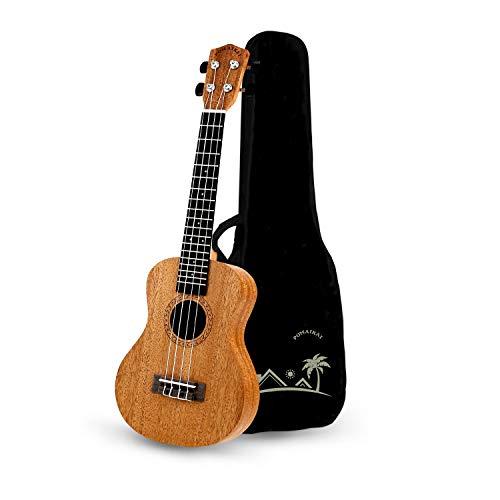POMAIKAI Concert Ukulele Mahogany 23 inch Beginners Starter Kit Small Hawaiian Guitar Ukeleles for Beginners Kids Adults with Gig Bag