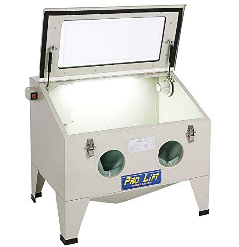 Pro-Lift-Werkzeuge Sandstrahlgerät 190 l Sandstrahlkabine Sandstrahler 190 Liter mit Zubehör sand blaster Sandstrahlkabinett