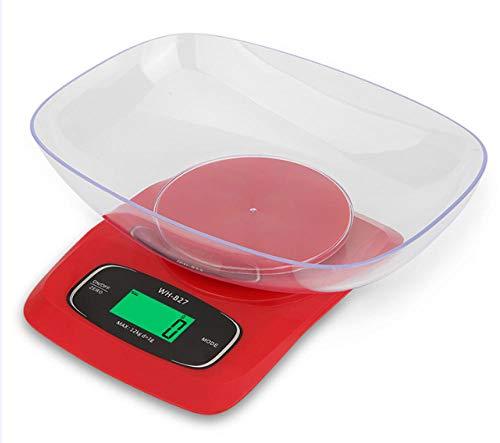 Báscula de Cocina Digital, Báscula del alimento/Báscula de la cocina con una gran precisión, Digital multifunción Báscula de medición