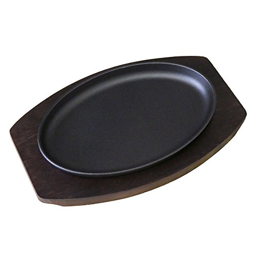 ステーキ皿小判型25cm×16cm専用木台付きKIPROSTAR(キプロスター)