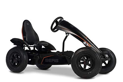 BERG E-Gokart mit XXL-frame Black Edition   Kinderfahrzeug, Tretauto mit verstellbarer Sitz, Mit Freilauf, Elektrisch, Kinderspielzeug geeignet für Kinder im Alter ab 5 Jahren