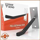 RAWBOND Felgenhalter Wand zur Aufhängung für 4 Reifen - Wandhalterung, Reifenhalter inkl. Schrauben & Dübel - Halterung für Deine Autoreifen & Felgen in der Garage - Felgenhaken Halter...