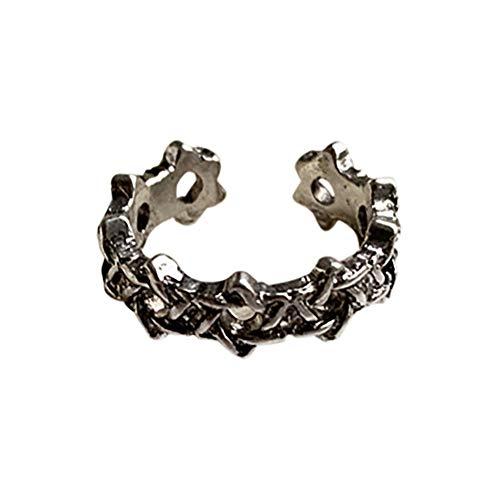 MOLEK estrella en forma de trenzado hueco aleación ajustable anillo ajustable para las