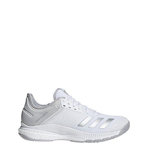 Adidas Crazyflight X 2, Zapatillas de Voleibol Mujer, Blanco (Ftwbla/Plamet/Gridos 000), 36 2/3 EU