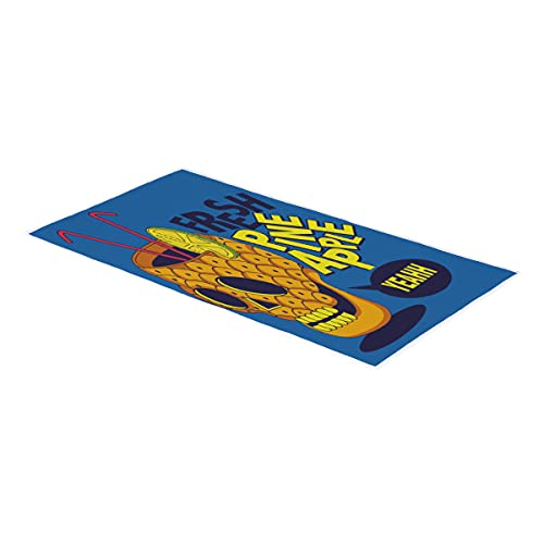Toalla de mano de calavera de piña de verano, toalla de baño, toalla de mano, suave, absorbente, para baño, habitación de invitados, cocina, hotel, piscina, spa, gimnasio, 38 x 76 cm